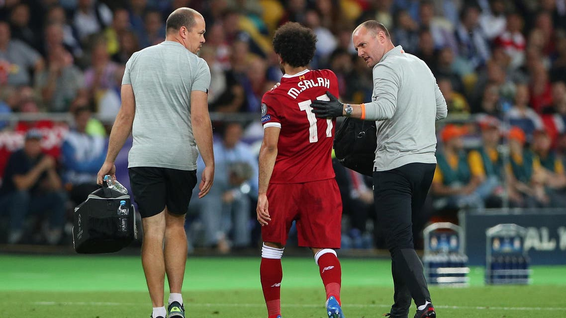 Salah was included in Egypt's final 23-man squad, with the team's medical staff suggesting it will be touch and go for the player to be ready in time for their Group A game against Uruguay. (Reuters)