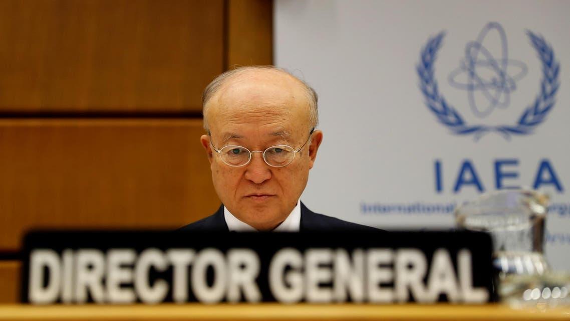 International Atomic Energy Agency (IAEA) Director General Yukiya Amano waits at IAEA headquarters in Vienna on June 4, 2018. (Reuters)