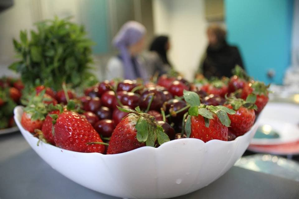 The emphasis at the green iftaar was on fruits, berries and ethically sourced vegetables. (Supplied)