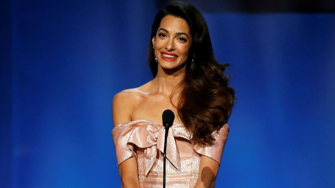Amal Clooney speaks at the 46th AFI Life Achievement Award in Los Angeles, California, U.S., June 7, 2018. (Reuters)