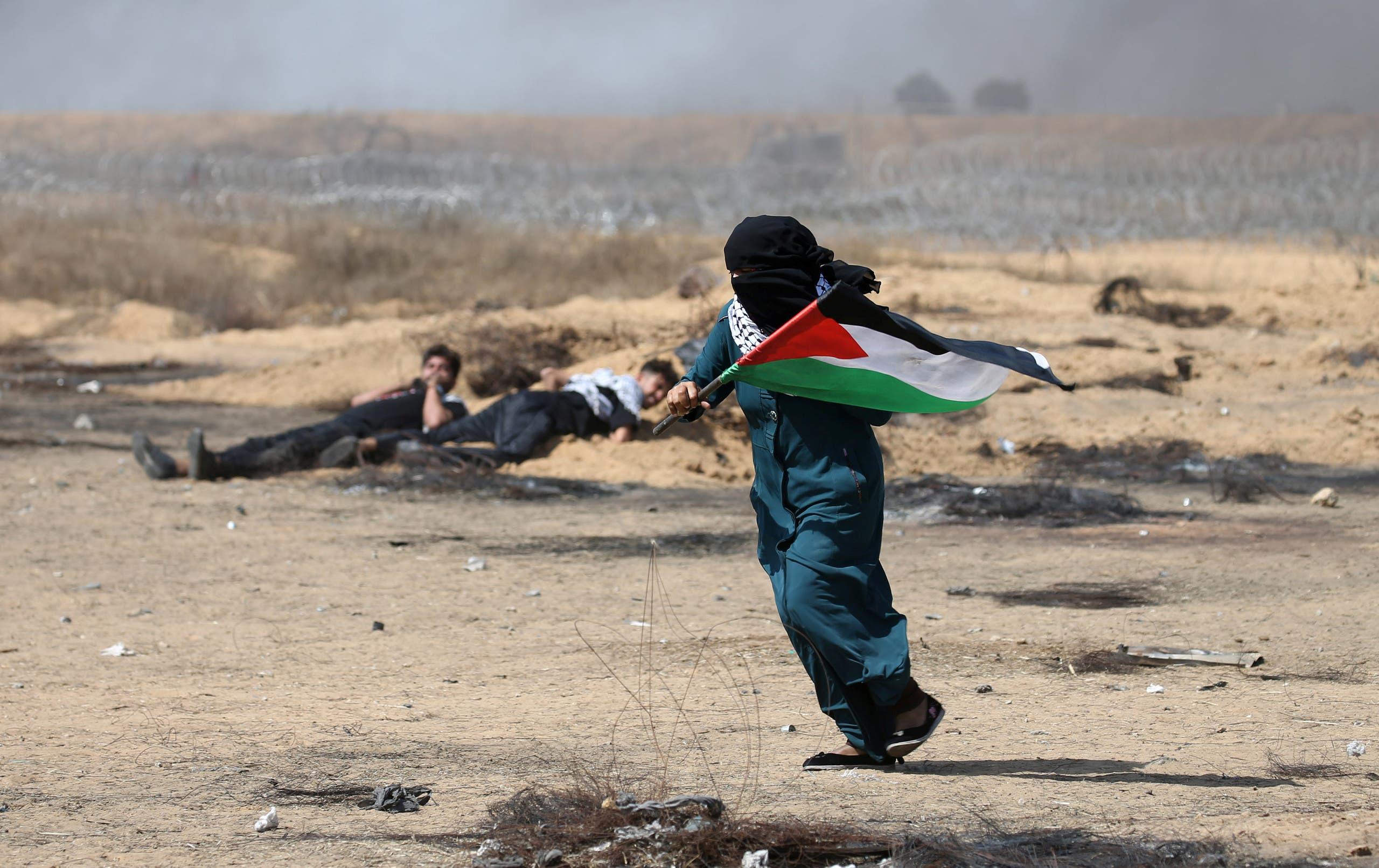 من الاحتجاجات على حدود غزة