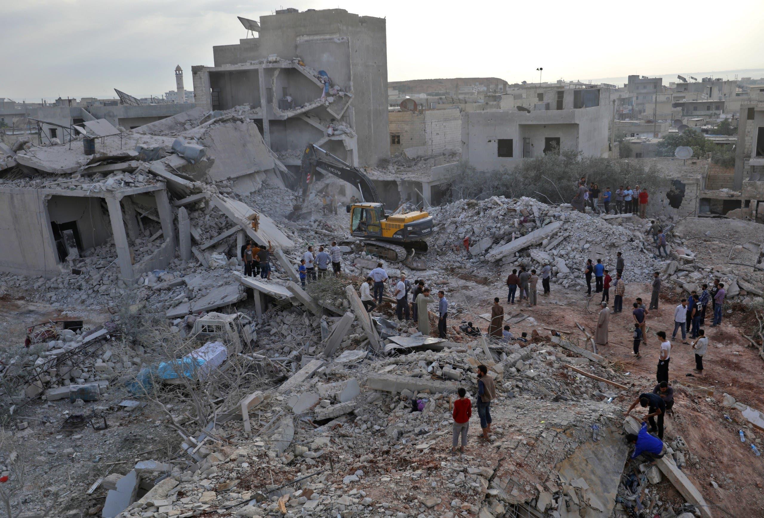غارات روسية سابقة على إدلب