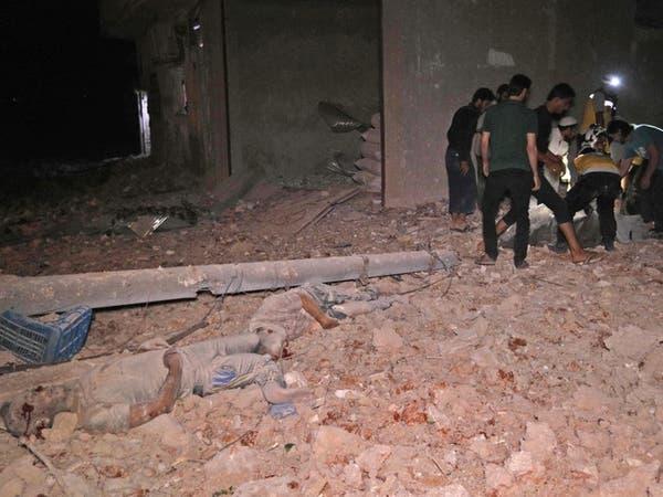 مقتل 44 مدنياً بقصف على إدلب.. وروسيا تنفي شن أي غارات