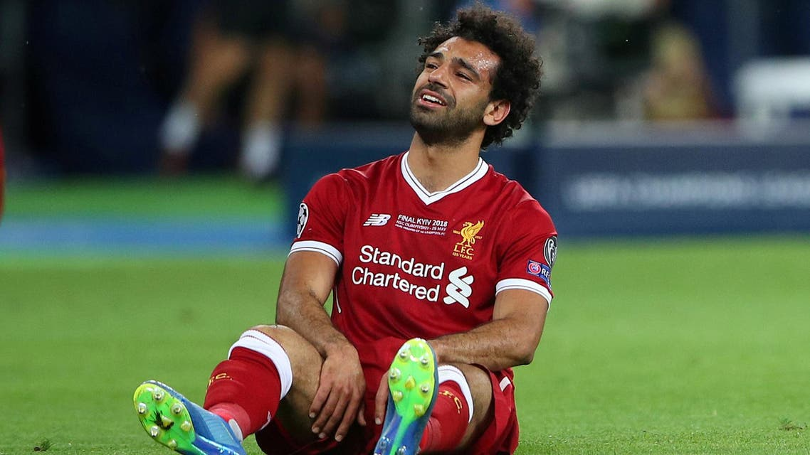 Salah went off with a shoulder problem in the first half of Liverpool's 3-1 defeat to Real Madrid in last month's Champions League final. (Reuters)