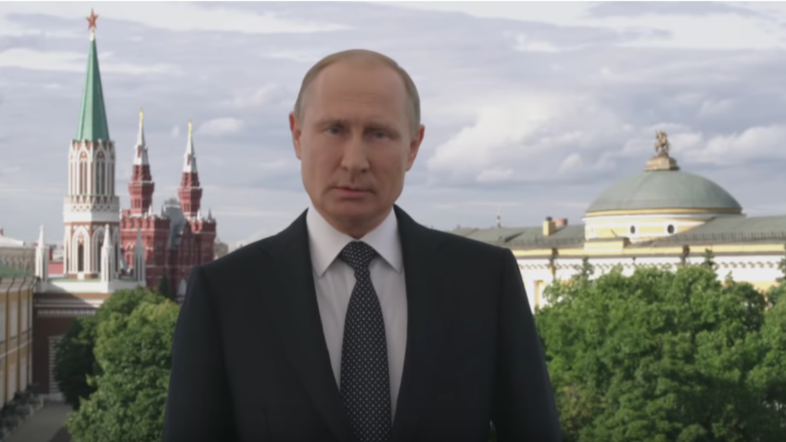 """""""For our country, it's a great joy and honor to receive representatives from the massive footballing family,"""" Putin said. (Screengrab)"""