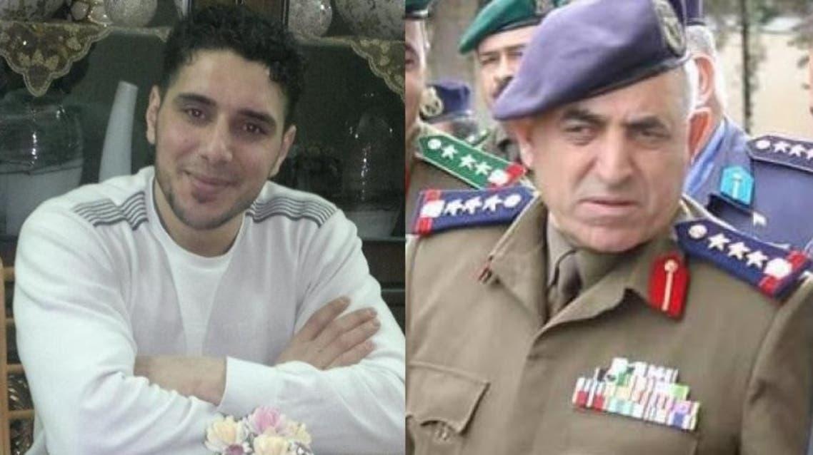 جميل حسن وإلى يساره غياث مطر الذي قضى تعذيباً في إدارته