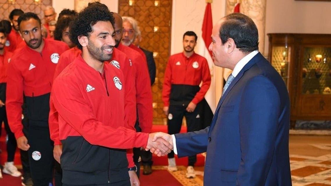 السيسي و محمد صلاح