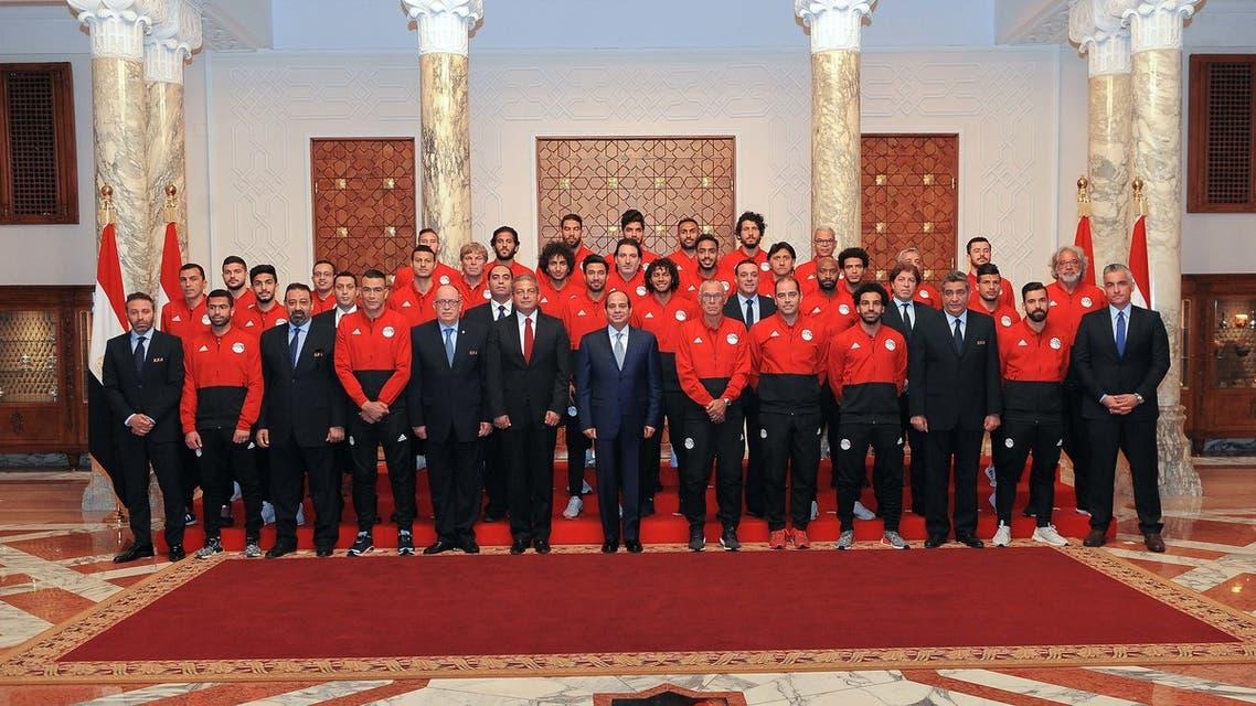 السيسي و المنتخب المصري