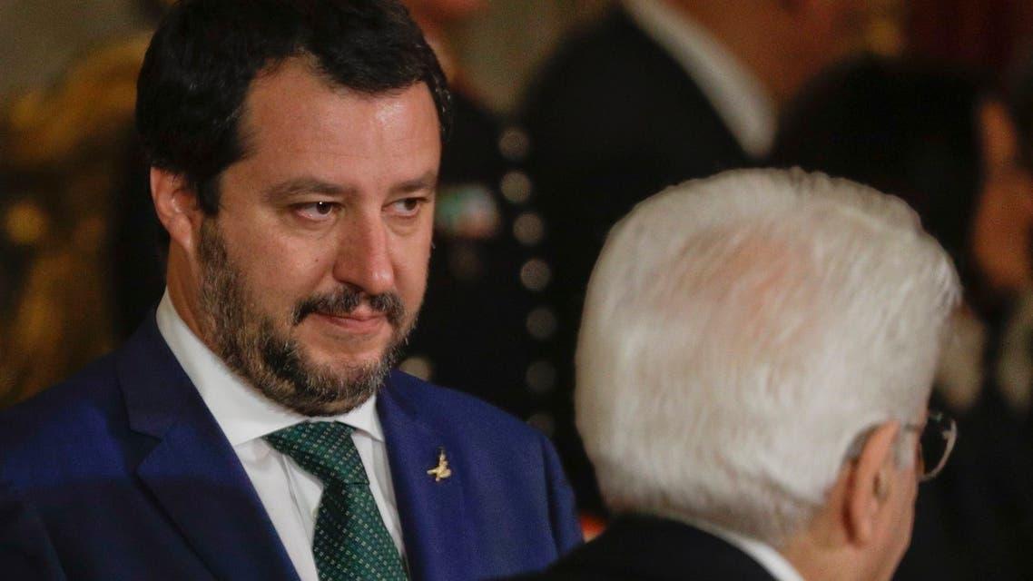 وزير الداخلية الإيطالي الجديد ماتيو سالفيني