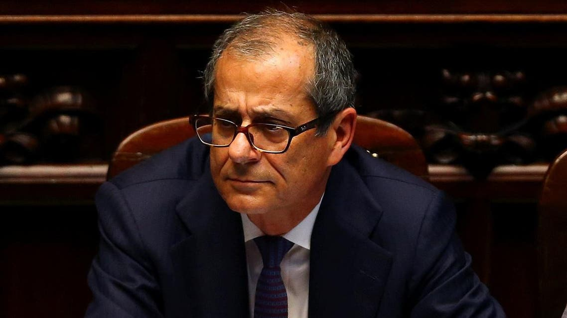 Italian Economy Minister Giovanni Tria attends during his first session at the Lower House of the Parliament in Rome. (Reuters)