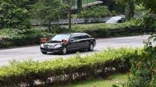 North Korea leader Kim arrives in Singapore ahead of Trump meeting