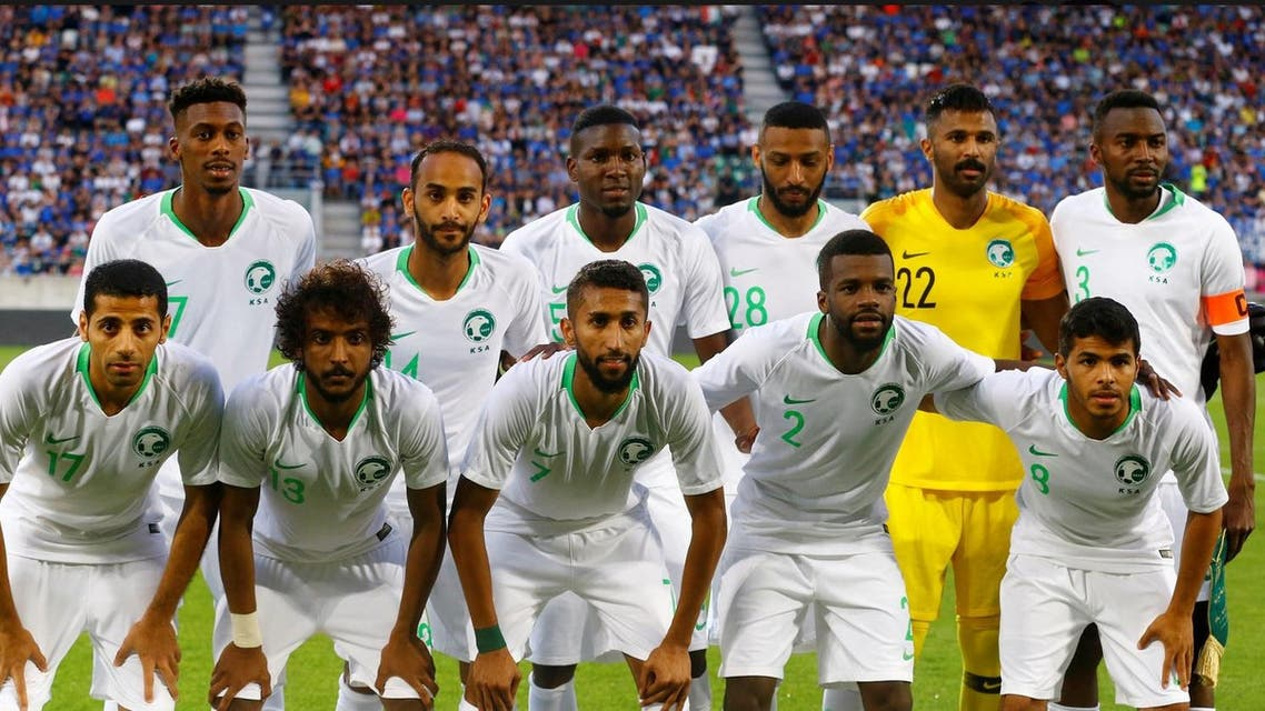 The Saudi team will play host Russia in the tournament's opening match on Thursday. (Reuters)