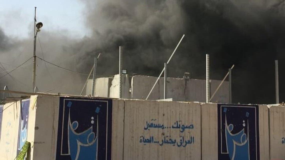 حريق مركز الانتخابات في بغداد