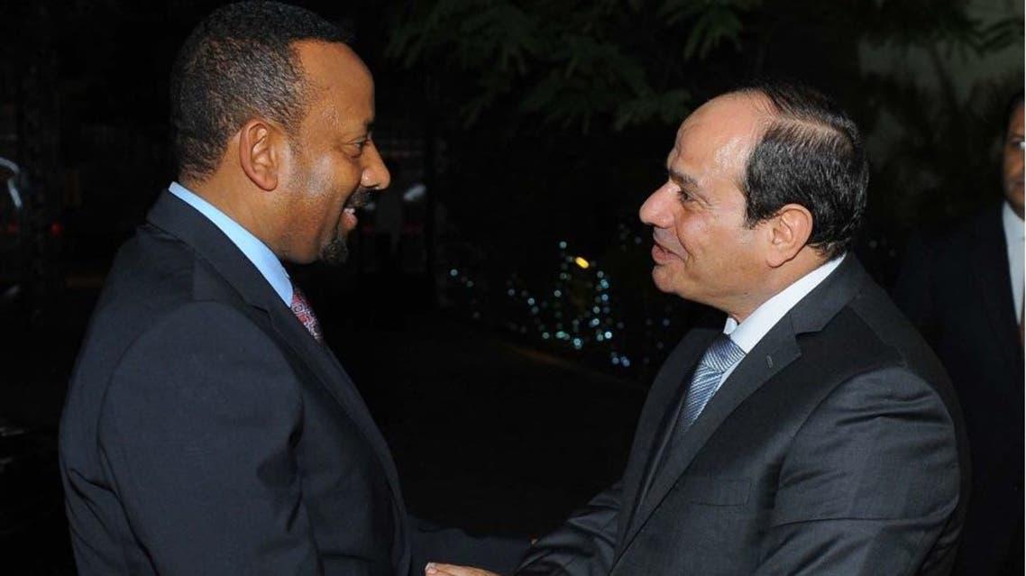 السيسي ورئيس وزراء اثيوبيا