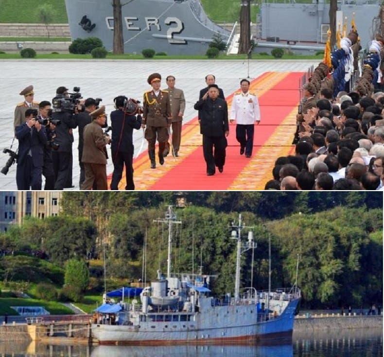 السفينة الراسية في مياه نهر بالعاصمة الكورية الشمالية، حولوها إلى متحف وجاذب للسياح، وكيم جونغ- أون يشارك شخصياً كل عام باحتفال رسمي بيوم السيطرة عليها