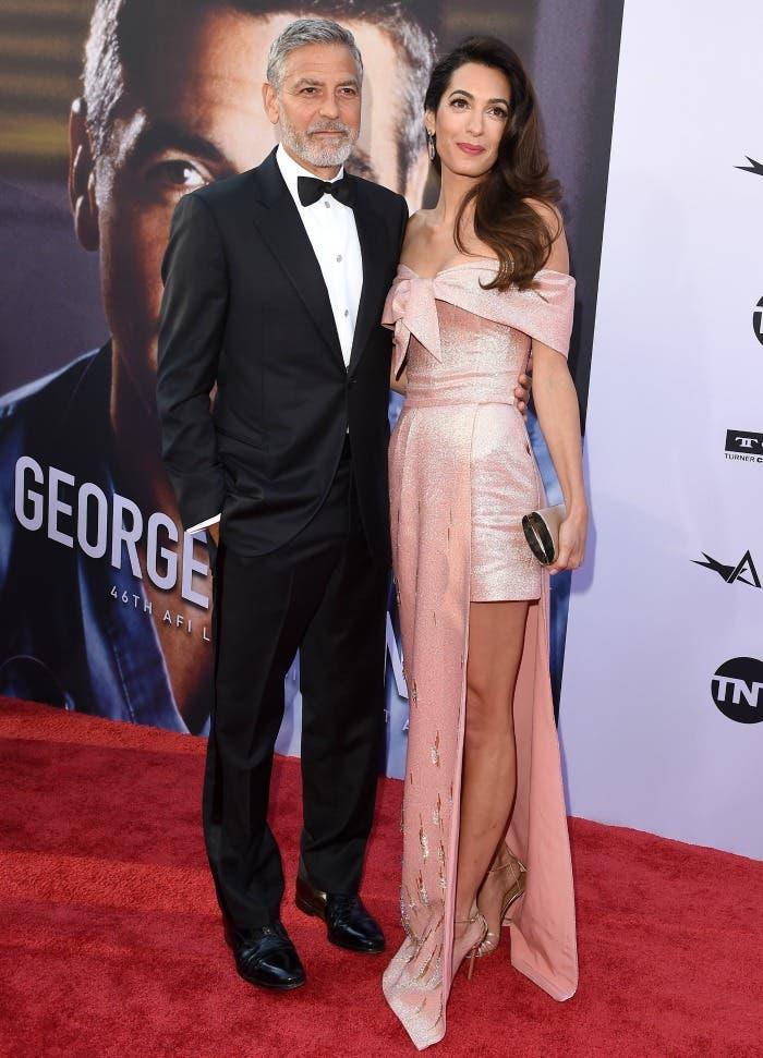 أمل برفقة زوجها النجم جورج كلوني