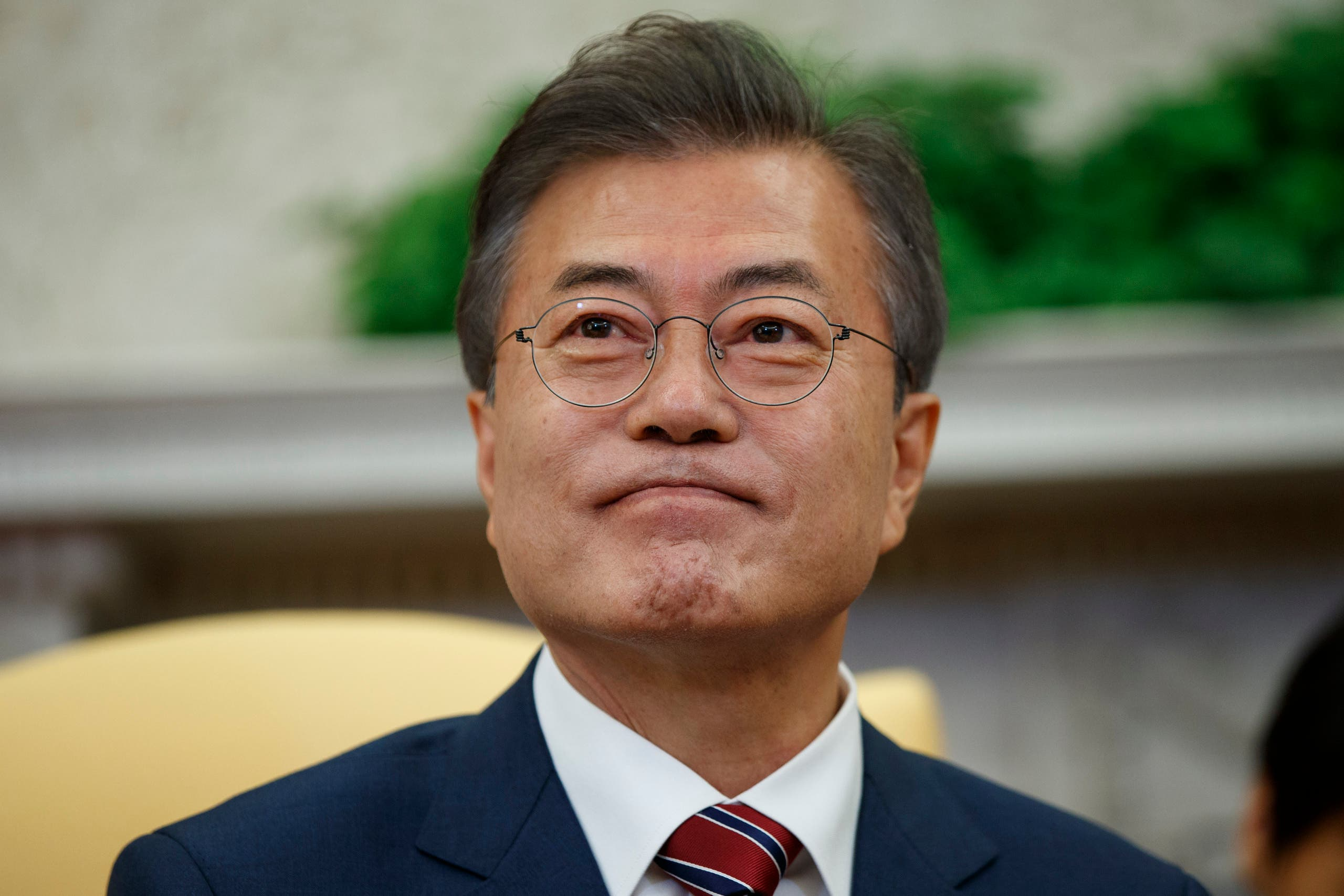 South Korean president Moon Jae-in. (AP)