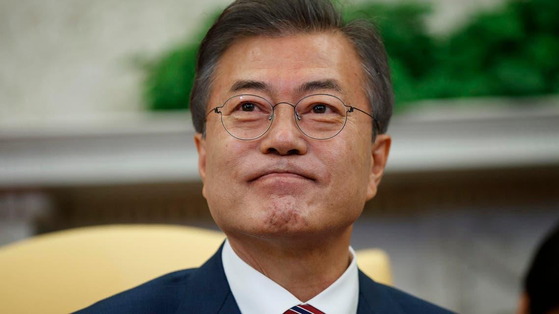 moon jae south korea. (AP)