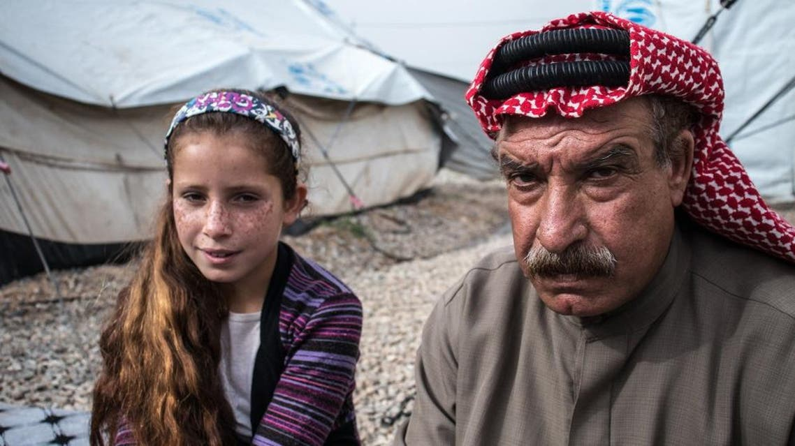 Rasha and her father Halif live in a camp for displaced people in northern Iraq. (MSF)