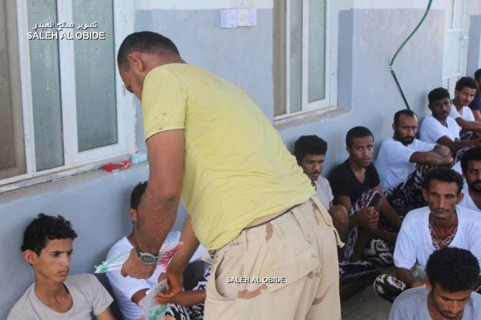 اسرى من الحوثيين في الساحل الغربي