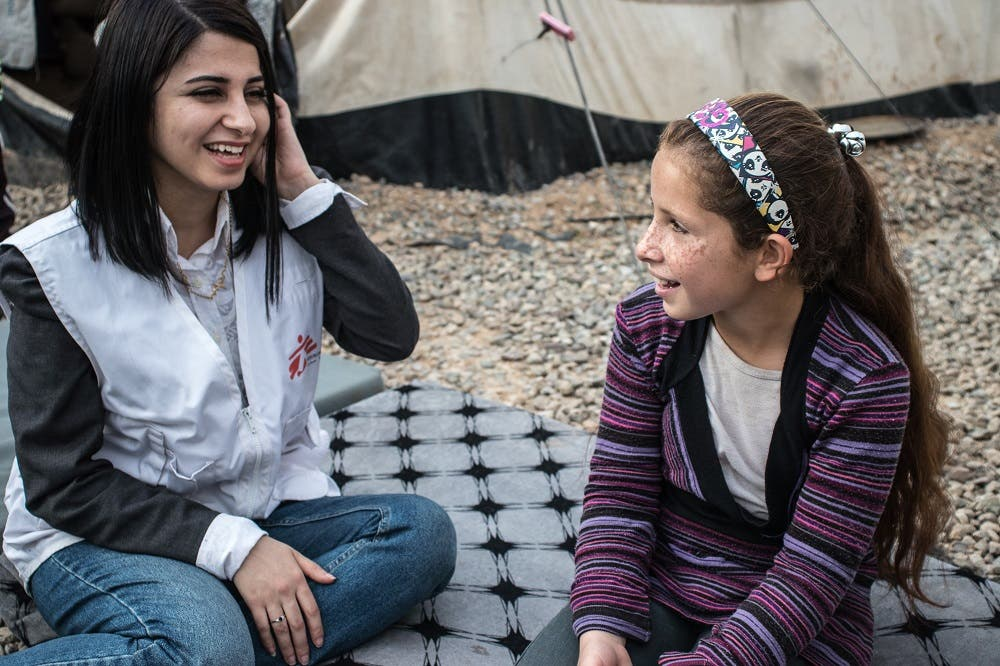 Rasha received support from Médecins Sans Frontières to manage and overcome her fear. (MSF)
