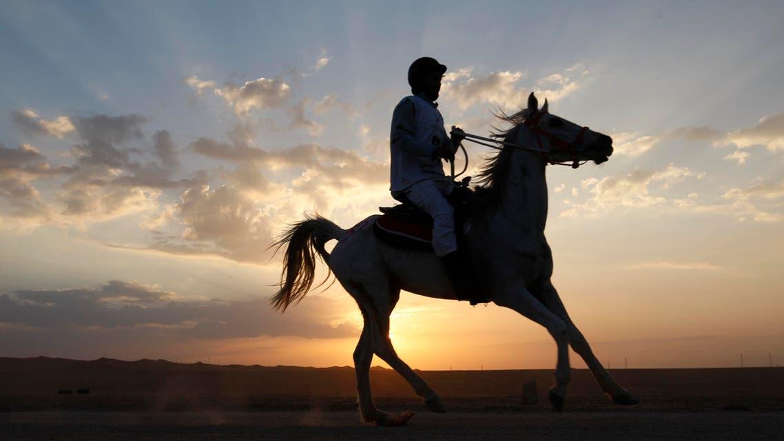 Saudi Arabia horses equestrian. (AP)