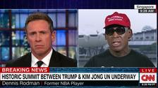 Dennis Rodman breaks down on live TV, claims vindication for Kim ties