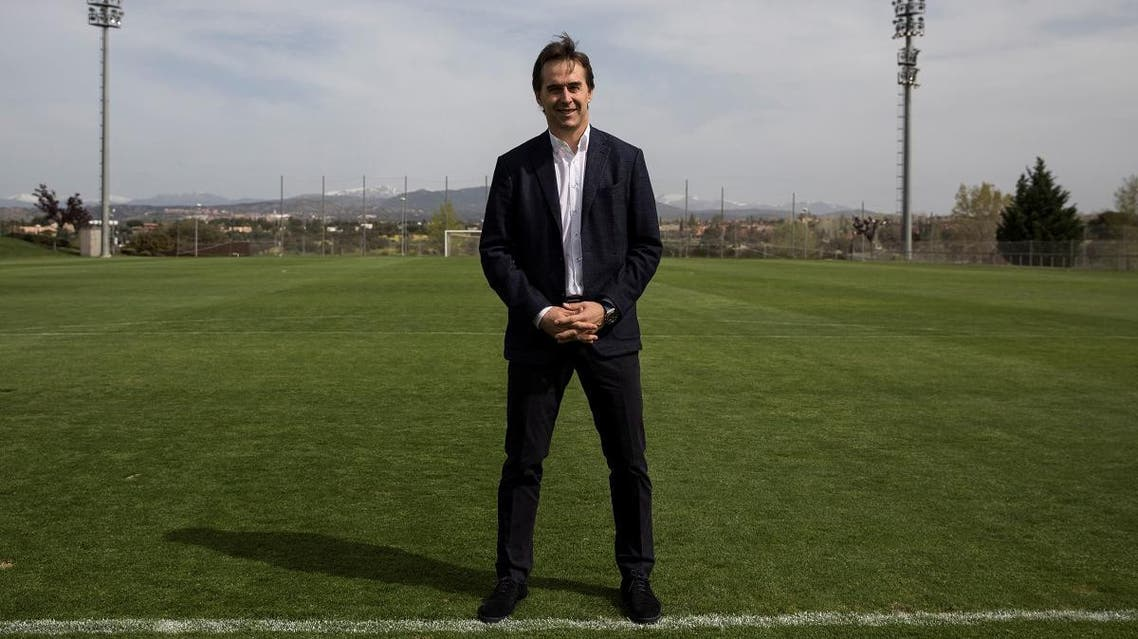 Spain's head coach Julen Lopetegui poses for a portrait at the Spanish Soccer Federation headquarters in Las Rozas, outside Madrid. (Reuters)