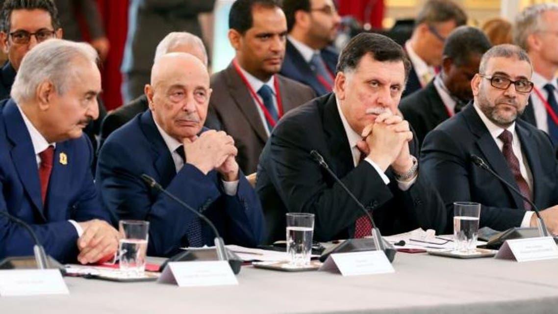 خالد-المشري،-فايز-السراج،-عقيلة-صالح،-خليفة-حفتر-