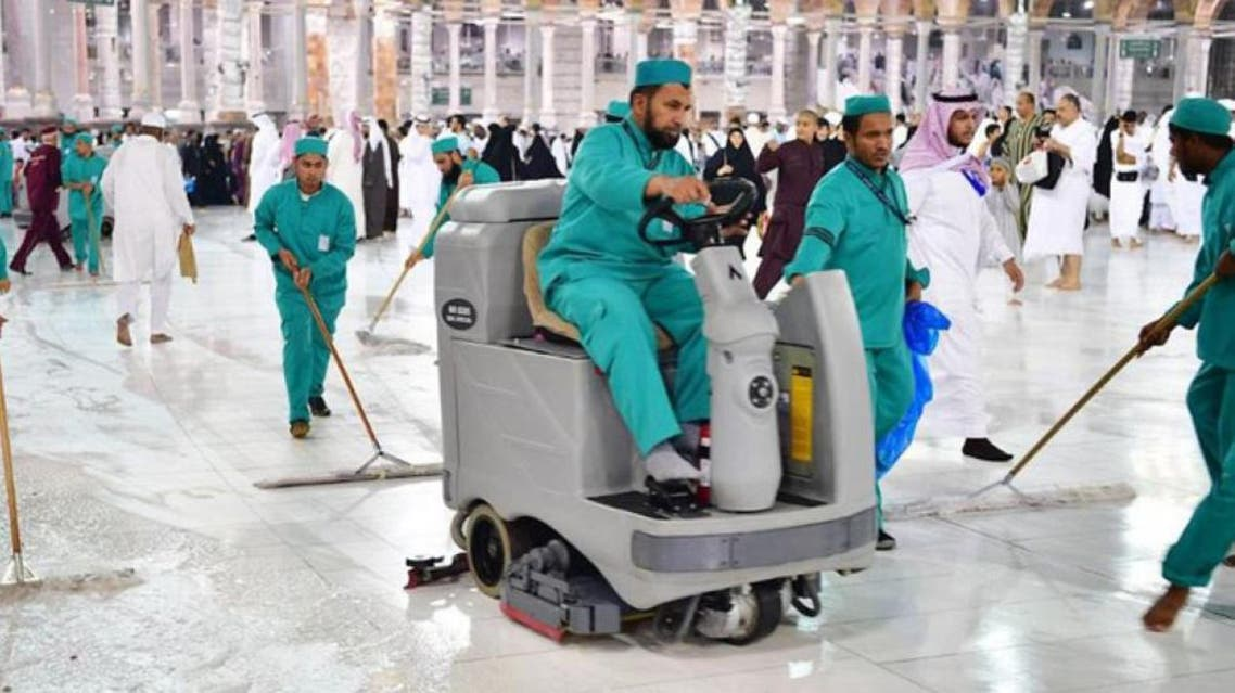 The plan focused on systematic cleaning of the locations immediately after Maghrib prayer. (Supplied)