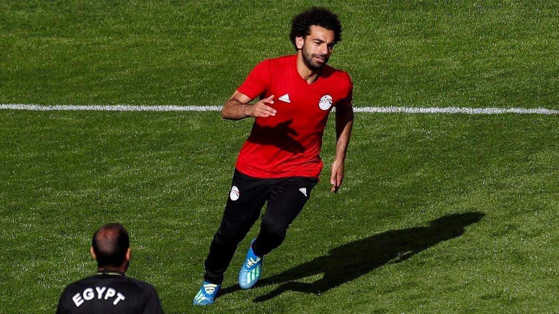 Egypt's Mohamed Salah during training. (Reuters)