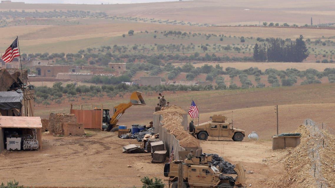 قوات أمريكية في قاعدة في منبج بسوريا يوم الثامن من مايو أيار 2018. تصوير: رودي سعيد - رويترز