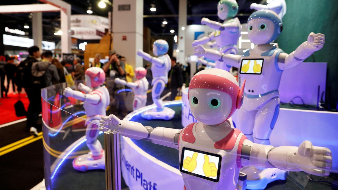 The humanoid device stands as tall as a five-year-old, moves and dances on wheels and its eyes keep track of its charges through facial recognition technology. (Reuters)