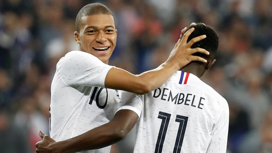 Kylian Mbappe, 19, and 21-year-old Ousmane Dembele, who have linked up impressively during the build-up matches, should start along with Antoine Griezmann, 27, to form a fearsome trio. (Reuters)