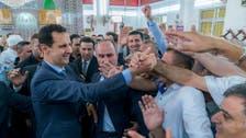 Syria's Assad in rare appearance outside capital