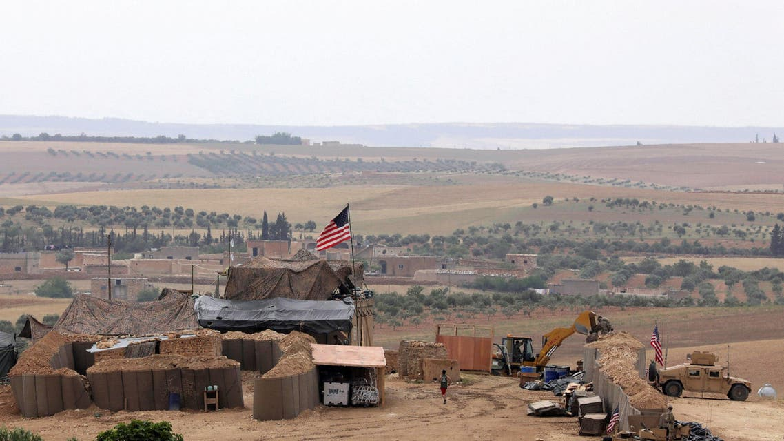 US forces set up a new base in Manbij on May 8, 2018. (Reuters)