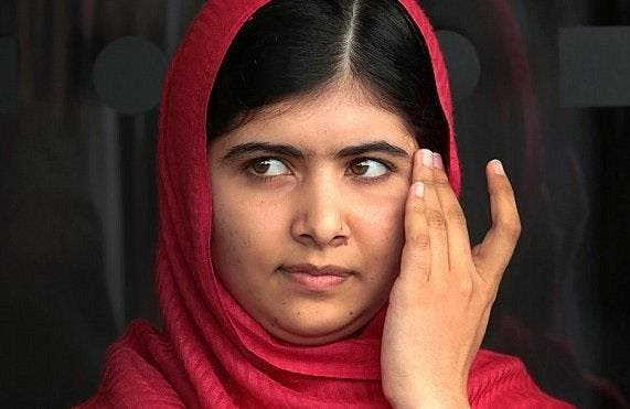 ملاله الحائزة على جائزة نوبل للسلام