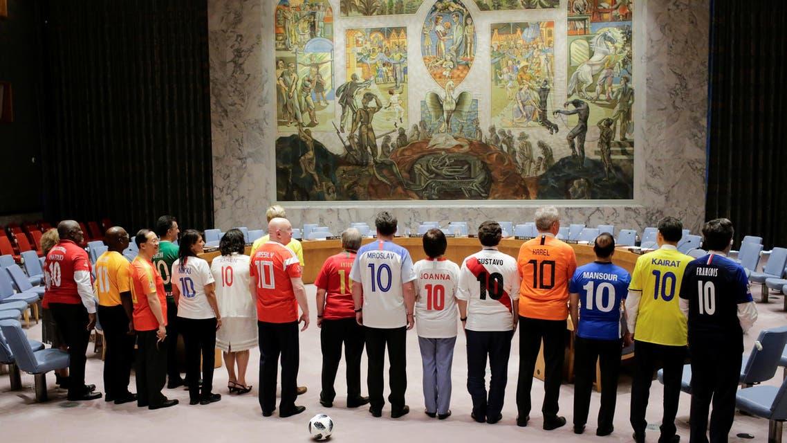 UN World cup celebration. (Reuters)