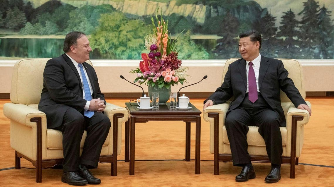 President Xi Jinping attends a meeting with US Secretary of State Mike Pompeo at the Great Hall of the People in Beijing, on June 14, 2018. (Reuters)