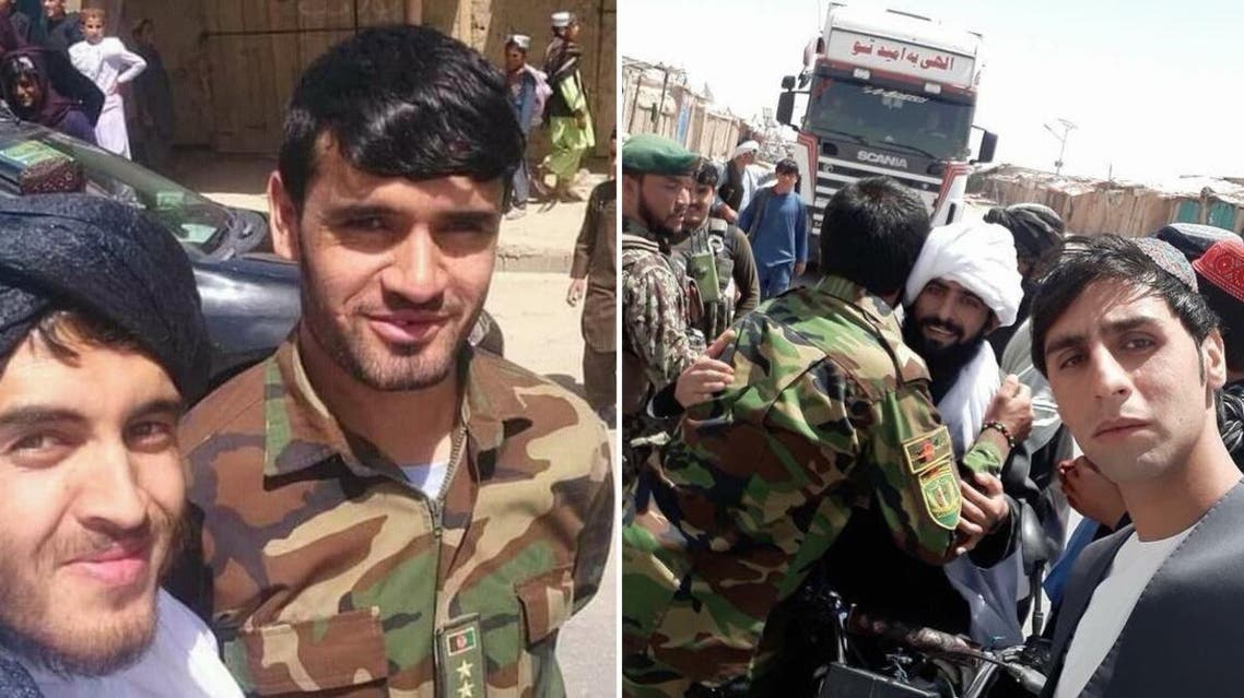 Video and pictures on social media showed cheerful soldiers and Taliban hugging one another and exchanging Eid greetings. (Twitter)