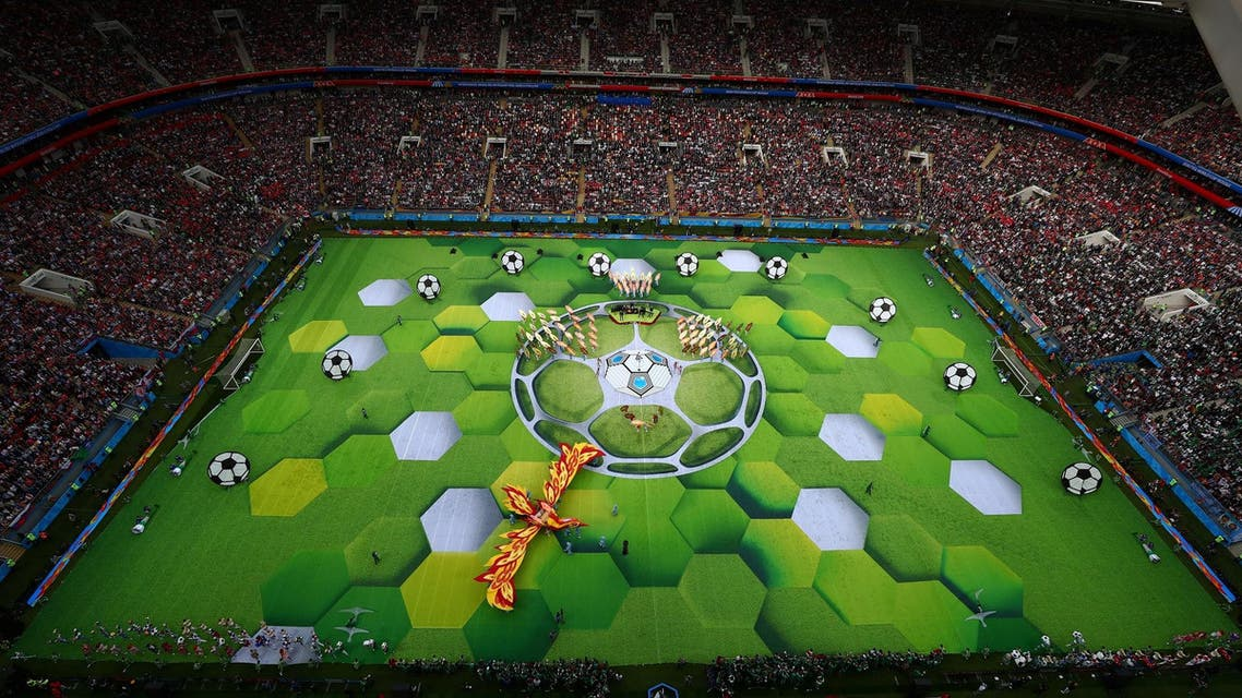 General view during the World Cup opening ceremony earlier this week. (Reuters)