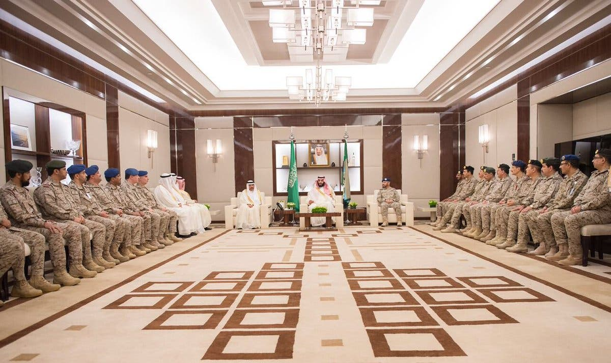 PICTURES: Saudi Crown Prince receives defense officials on occasion of Eid