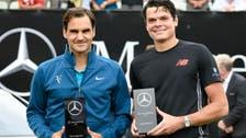 Federer beats Raonic for Stuttgart title, his 18th on grass
