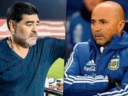 مارادونا يحذر سامباولي من العودة إلى الأرجنتين