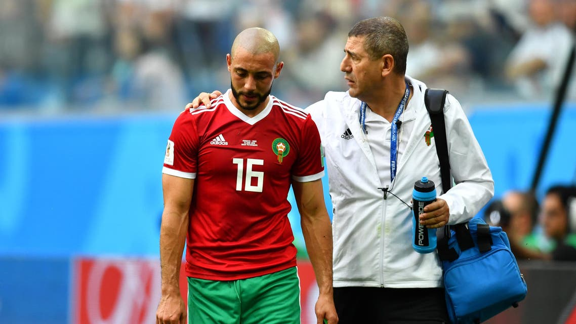 Amrabat was replaced by his younger brother Sofyan for the final stages of the game. (Reuters)