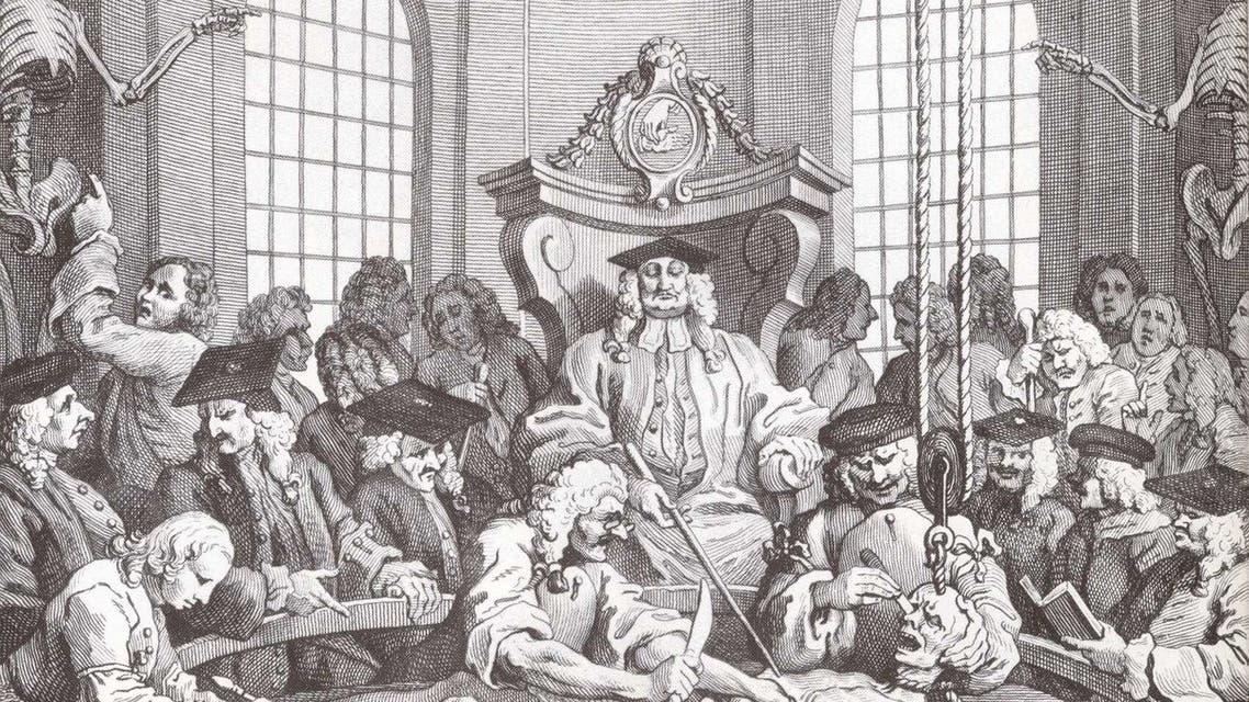 صورة لعملية تشريح جثة أحد المجرمين ببريطانيا خلال القرن الثامن عشر