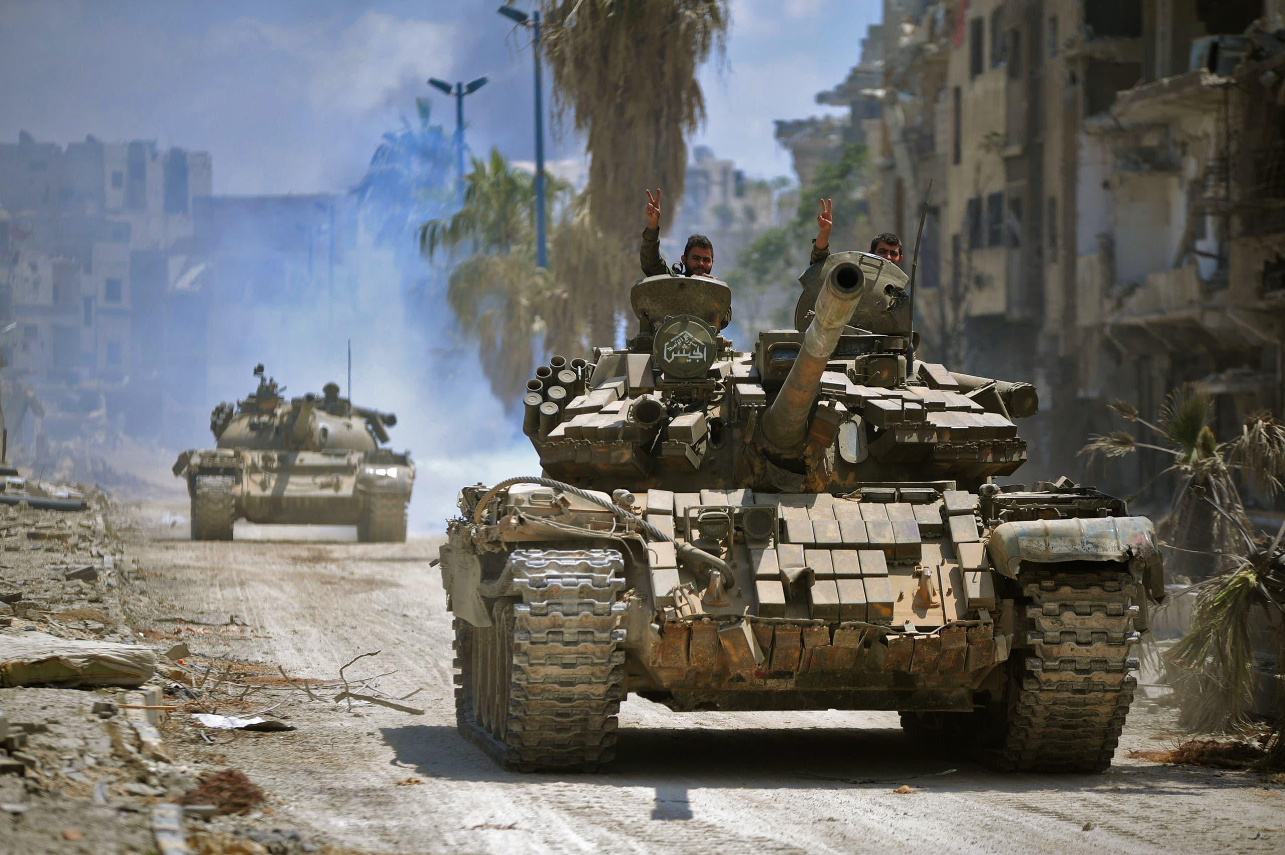 آليات عسكرية تابعة لقوات الأسد