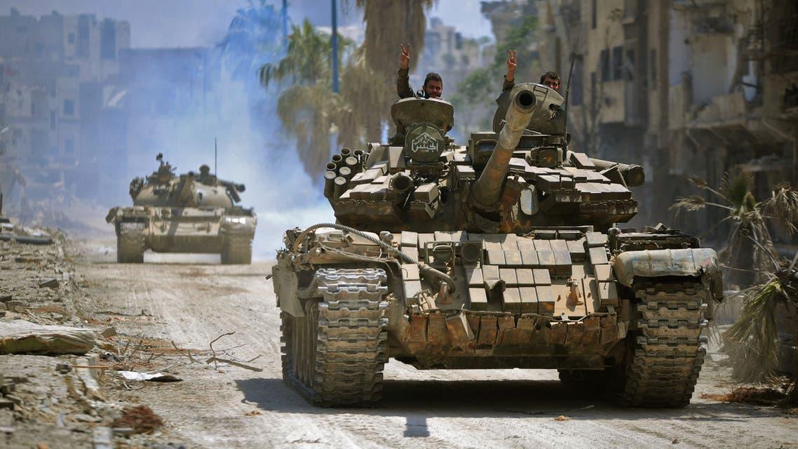 آليات عسكرية تابعة لقوات الأسد - سوريا