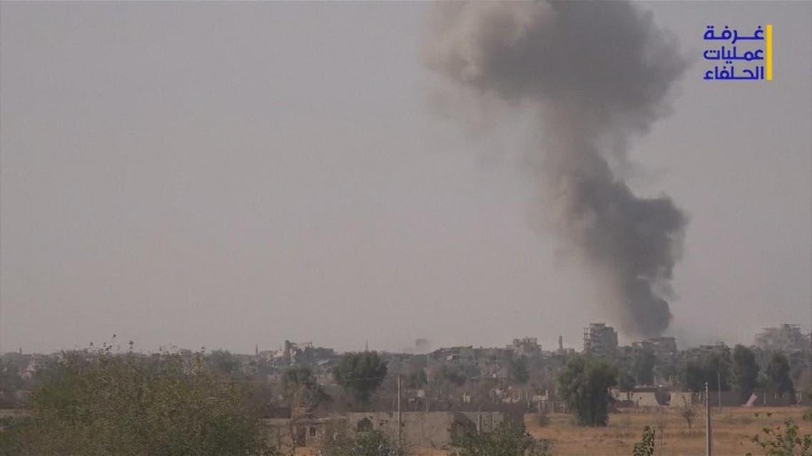 THUMBNAIL_ قتلى من ميلشيات الحشد في قصف مجهول الهوية في البوكمال