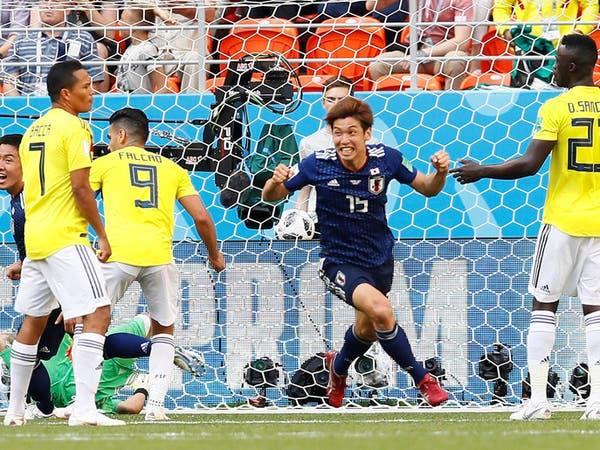 """اليابان تسقط كولومبيا ونجومها بـ""""الضربات الثابتة"""""""